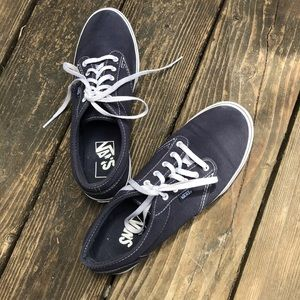 Van's navy and white canvas sneakers